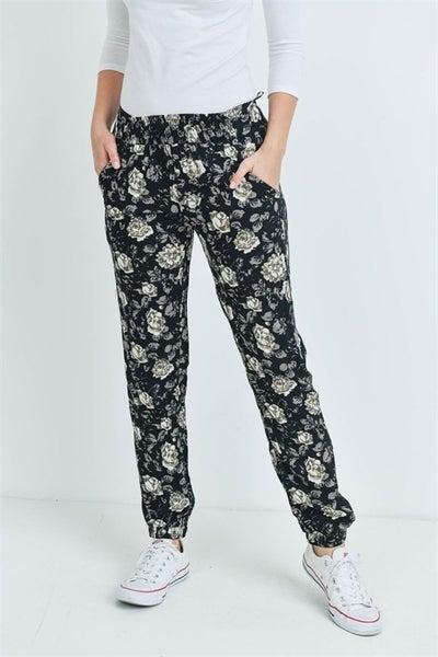 << FLORAL CUFFED DRESS PANTS >>
