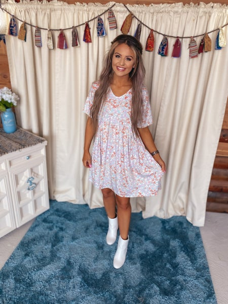 << FLORAL BABY DOLL DRESS >>