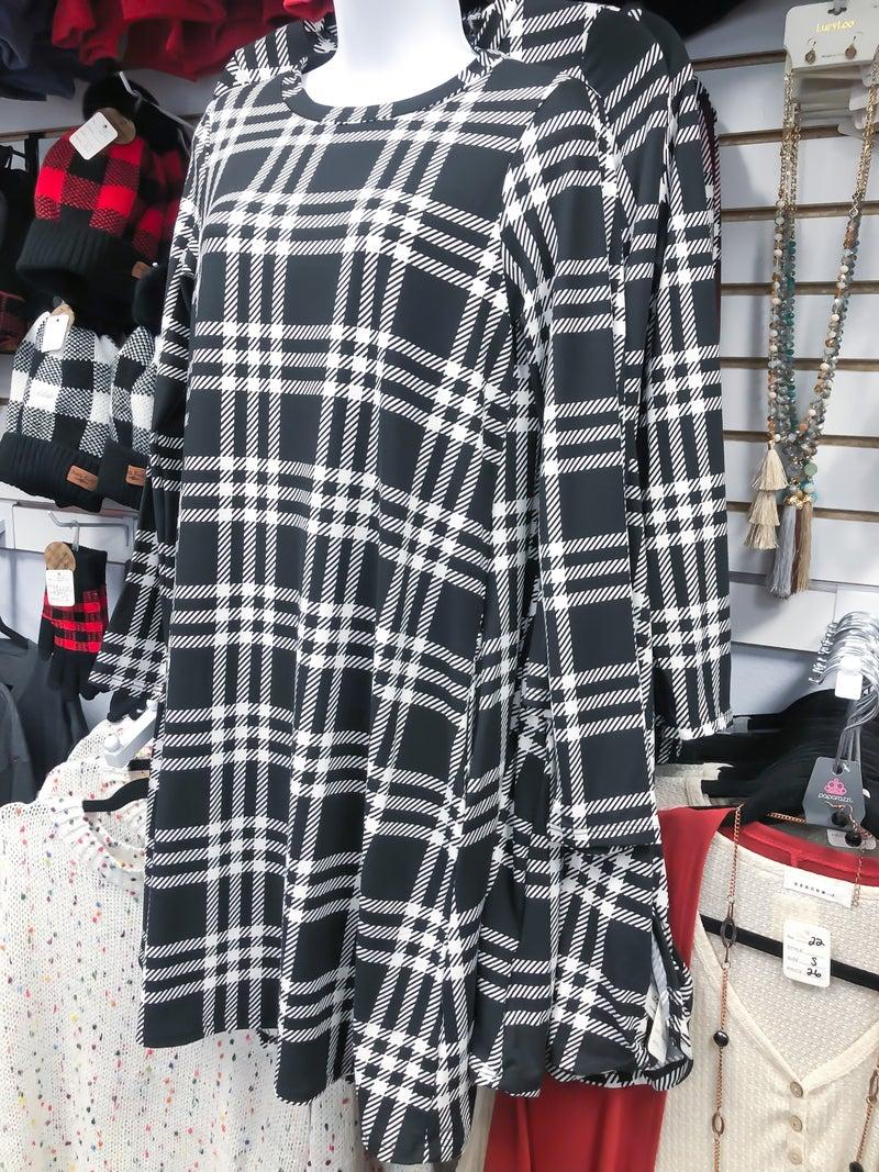 << POCKETED PLAID DRESS >>