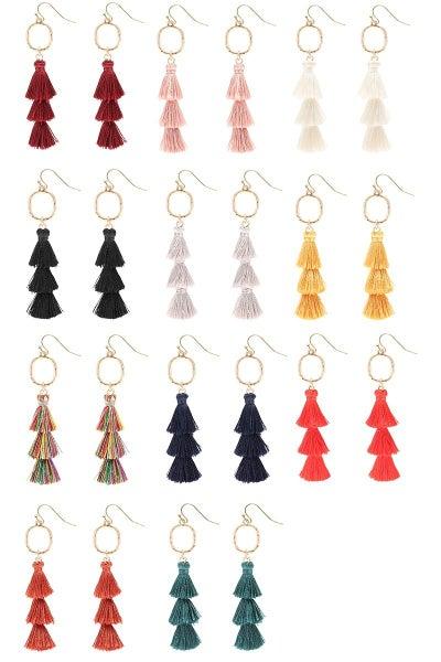 << Small Layered Tassel Earrings  >>