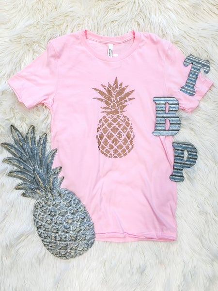 << ROSE GOLD PINEAPPLE TEE >>