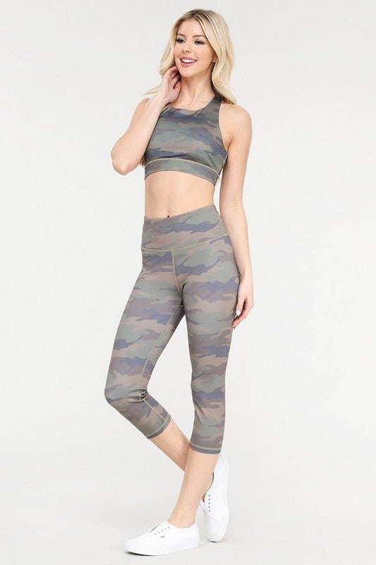 Active Cute in Camo High Rise Capri Leggings