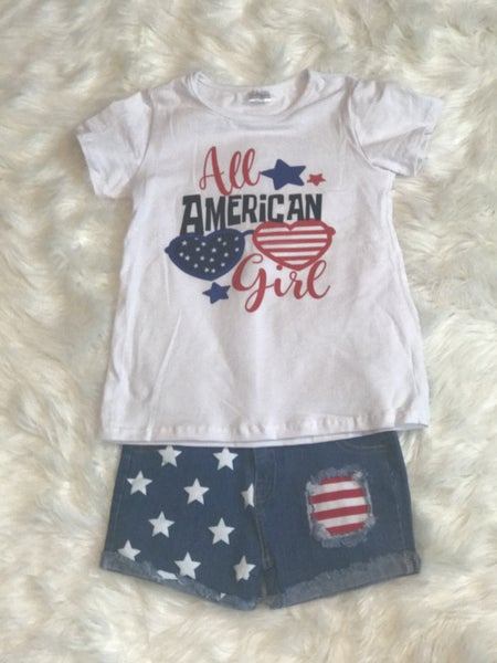 GIRLS AMERICANA GIRLS OUTFIT WITH JEANS