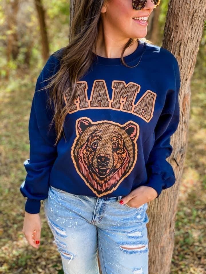 MAMA BEAR SWEATSHIRT IN NAVY