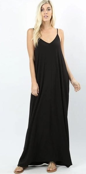Cami Maxi Dresses with Pockets