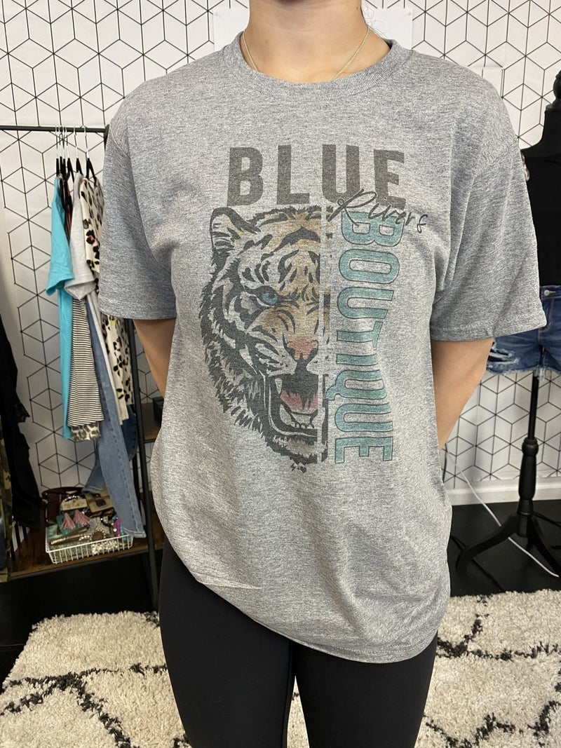 BLUE RIVERS TIGER GRAPHIC