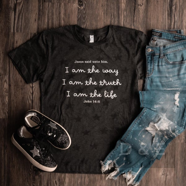 I am the Way- John 14:6 Graphic Star Tee