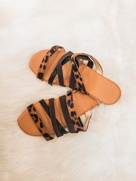 Leopard Strappy Sandals