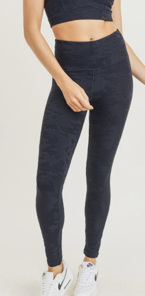 Textured Camo Jacquard TACTEL Highwaist Leggings