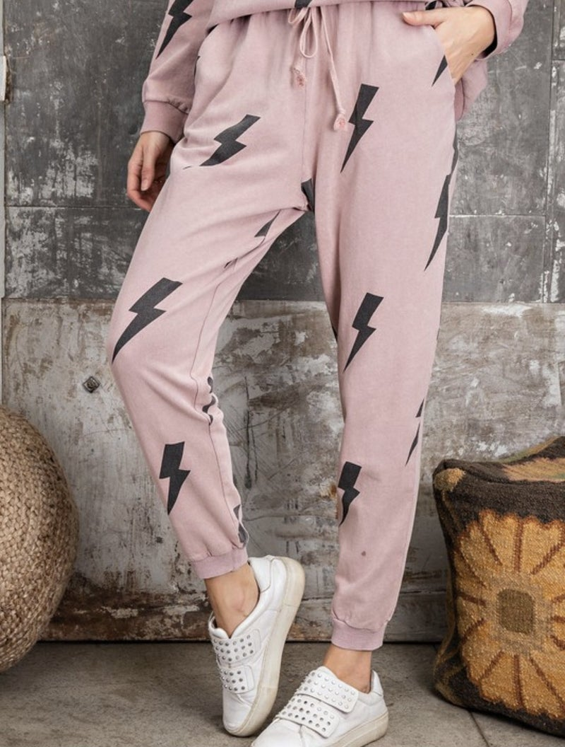 EASEL MUAVE LIGHTENING JOGGERS