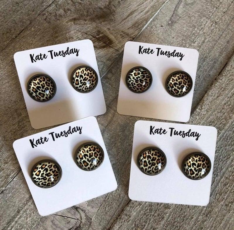 Cheetah Earrings from Kate Tuesday
