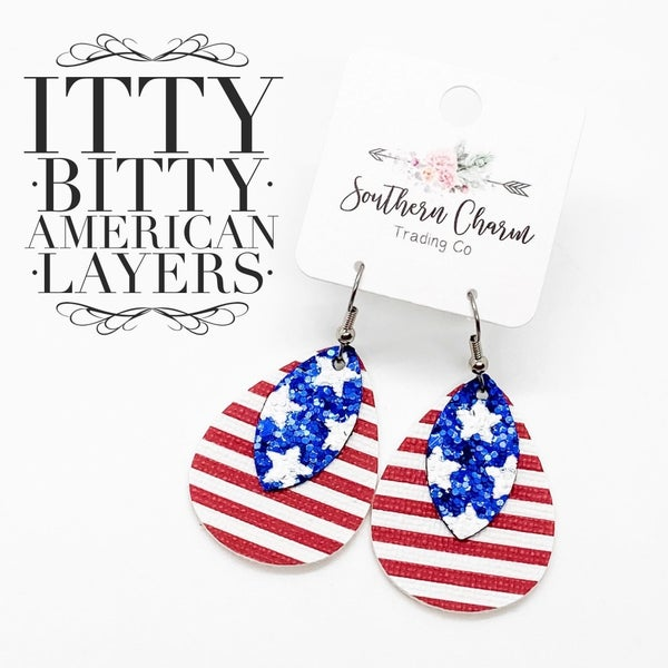 ITTY BITTY AMERICAN LAYERED EARRINGS
