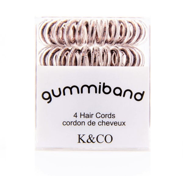 GUMMY BANDS HAIR CORDS- BOX OF 4