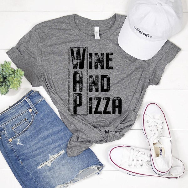 WAP- WINE & PIZZA GRAPHIC TEE