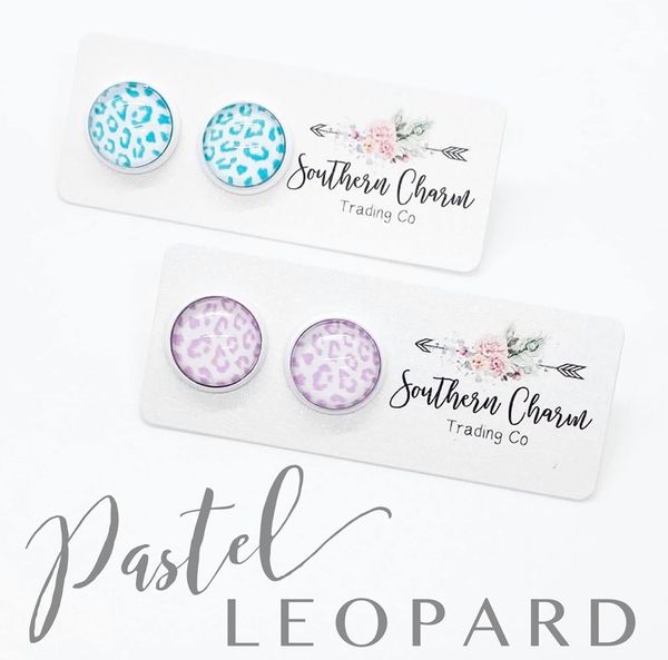 PASTEL LEOPARD EARRINGS