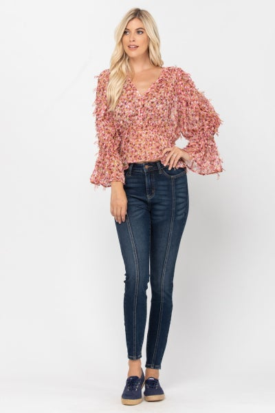 JUDY BLUE High Rise Mid Seam Skinny Jeans