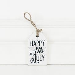 ADAMS & CO. HAPPY 4TH OF JULY WOOD TAG