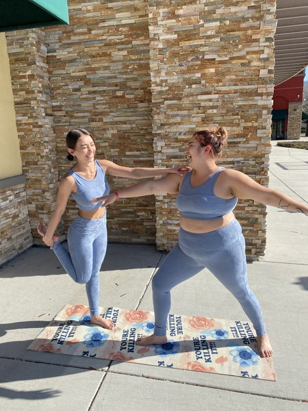 FLORAL TACTEL ACTIVEWEAR LEGGINGS