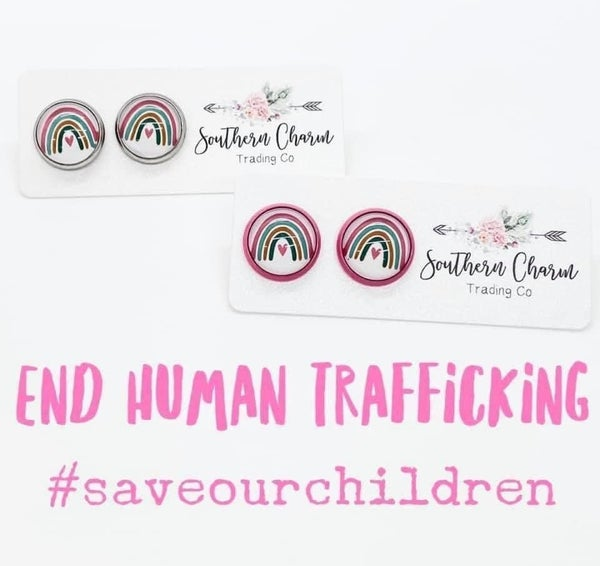 #savethechildren Earrings with Pink Base