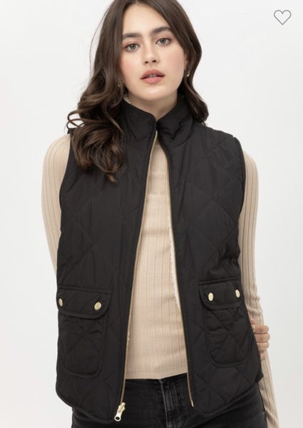 QUILTED REVERSIBLE SHERPA VEST