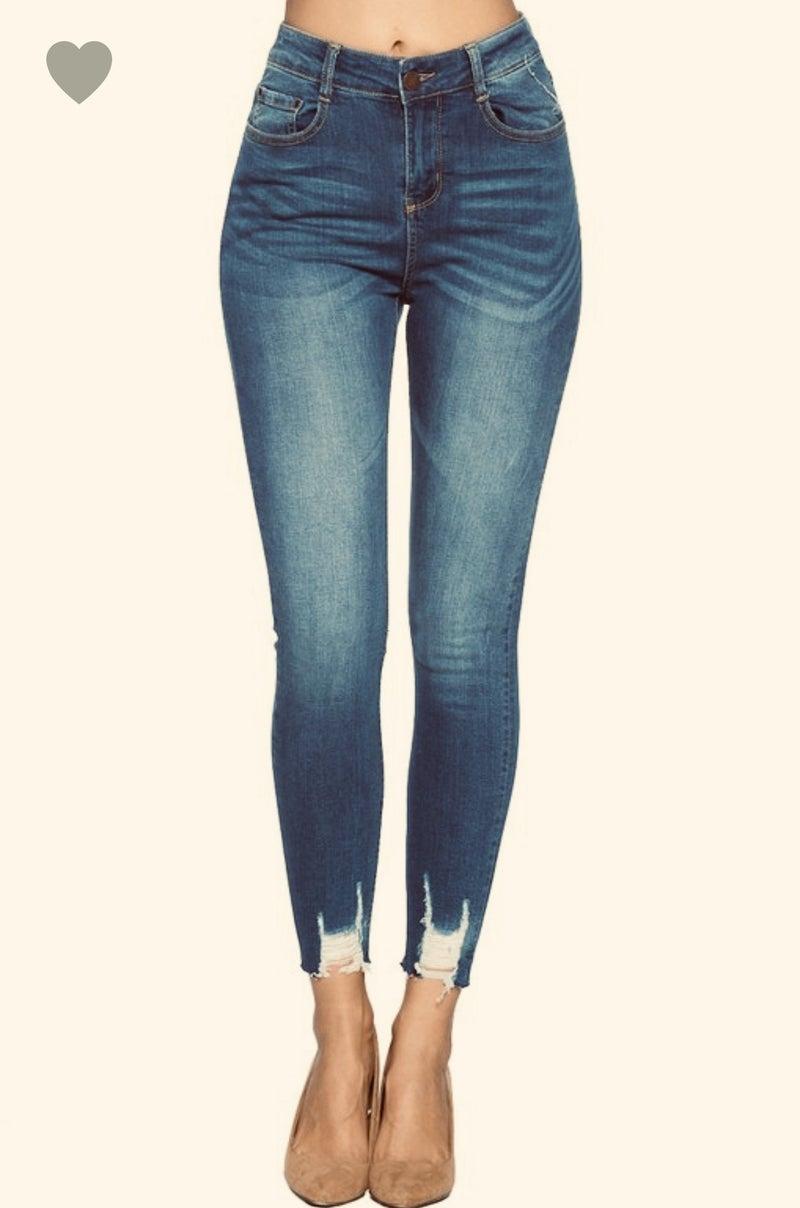 High Waist Butt Lifter Ankle Jeans *Final Sale*