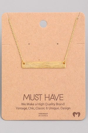 """MUST HAVE """"Bar"""" Necklace"""