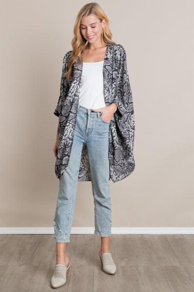 """""""Snake Print"""" Kimono"""