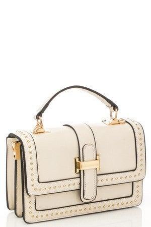 Studded Rectangle Fashion Handbag