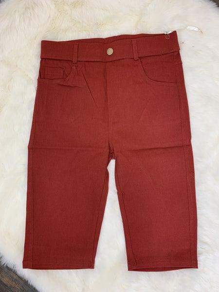 Fired Brick  Bermuda shorts