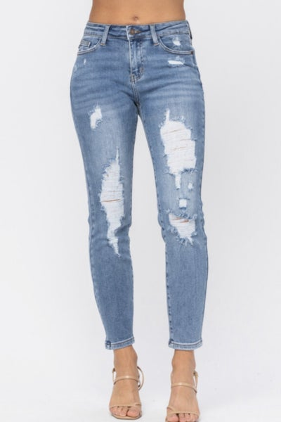 Terri Judy Blue Relaxed Jeans WH
