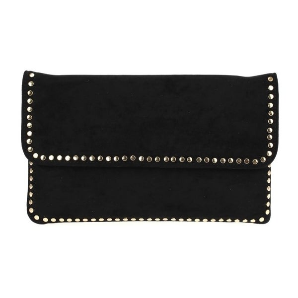 Black Clutch with metal detail