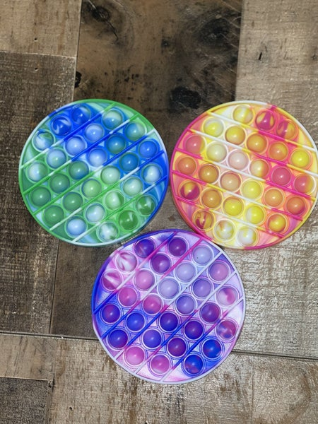 Circle Tie Dye Fidget Bubble Stress Relief Autism Sensory Toy