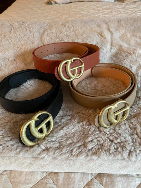 Gucci Inspired Belt 4 color choices!