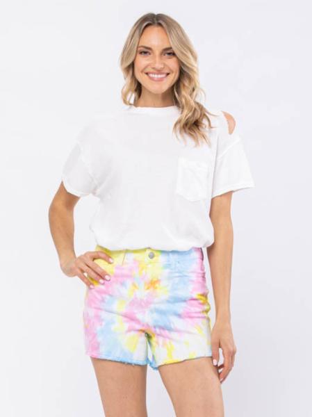 Judy Blue Paige Tie Dye Swirl Shorts
