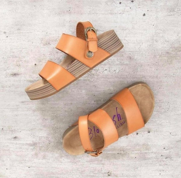 Blowfish Vegan Platform Sandals.