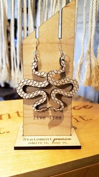 Statement Peace Earrings SNAKES!