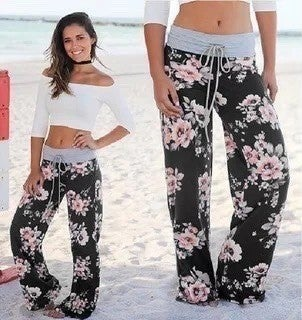 Peach Floral Lounge Pants