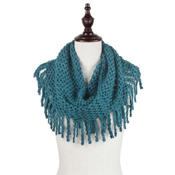 All The Fringe Scarf Teal