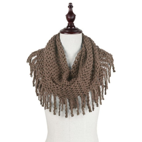 All The Fringe Scarf Brown