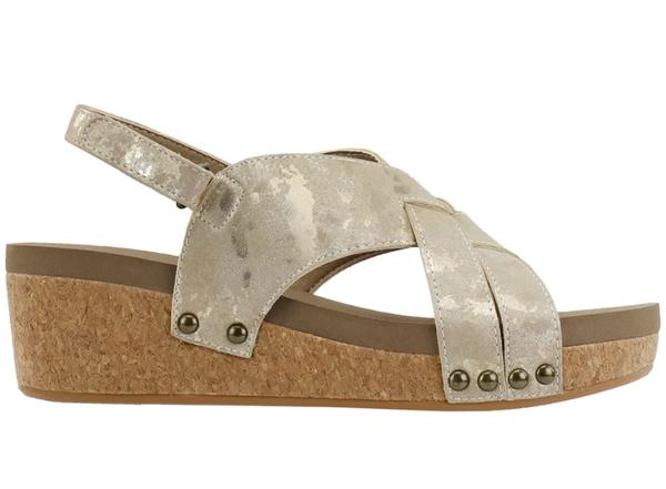 Corky's Wow Metallic Platform Sandals