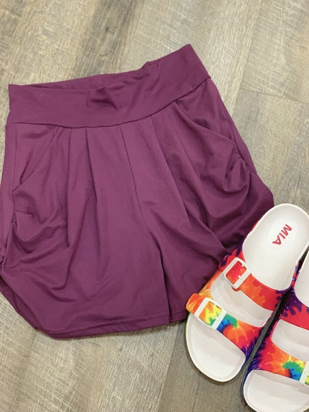 Plum Harem Shorts