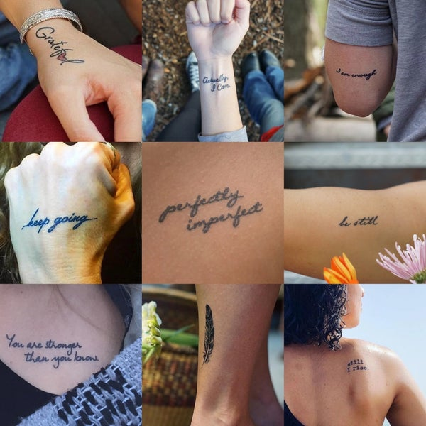Conscious Ink Manifestation Temporary Tattoos Pack of 2!
