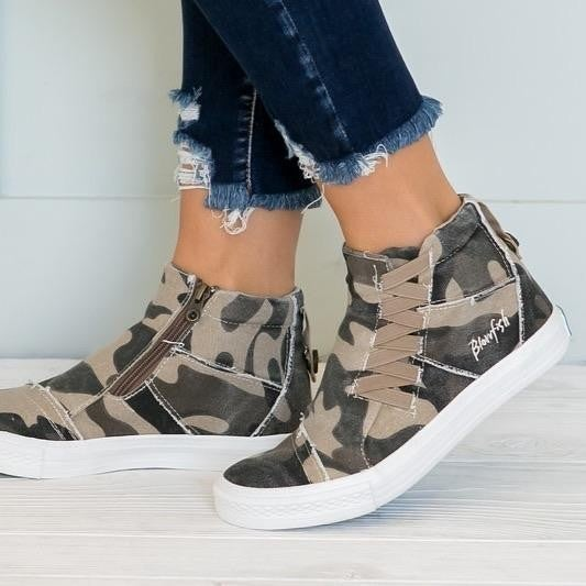Blowfish Malibu high top camouflage sneakers
