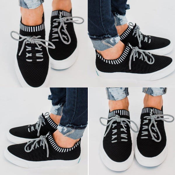 Blowfish  Black and White knit sneakers