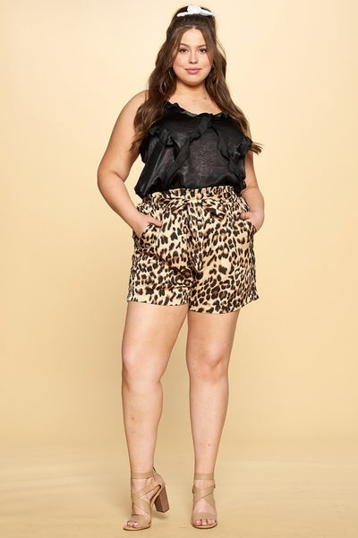 Love me Leopard Satin Shorts