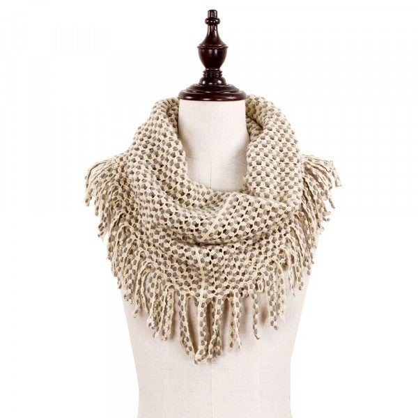 All The Fringe Scarf Beige