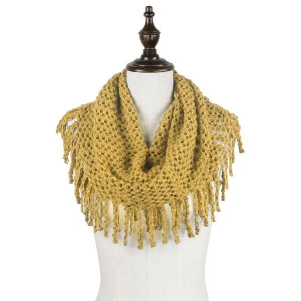 All The Fringe Scarf Mustard