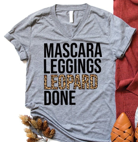 Mascara, Leggings, Leopard DONE Graphic tee