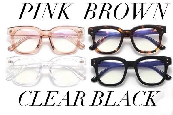 Abby Blue Blocker Glasses