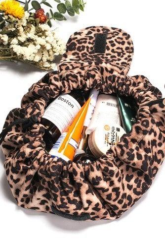 Leopard Easy Travels Makeup Bag